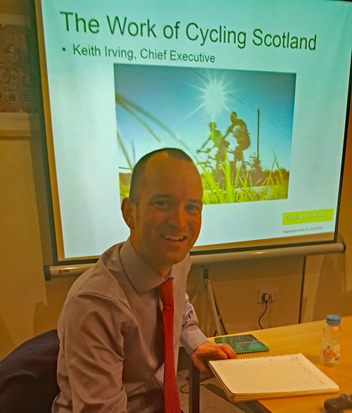 Keith Irving, Chief Executive, Cycling Scotland