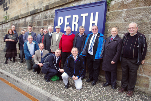 CILT Members taking part in the tour of Perth Station.
