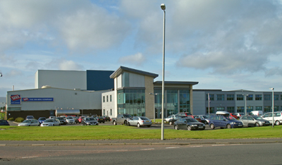 A view of A.G. Barr's Cumbernauld production and distribution centre.