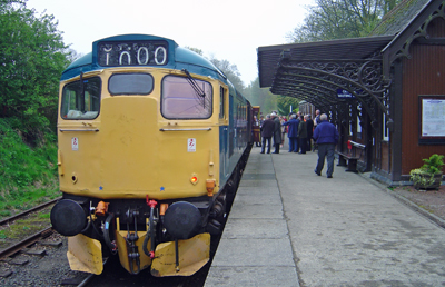 The special CILT train at Birkhill station.