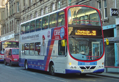 One of Travel Dundee's latest double deck buses.