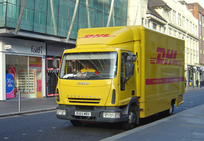 A DHL vehicle seen in Glasgow.