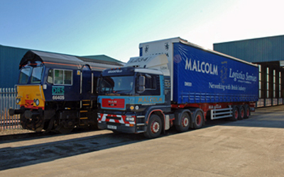 Direct Rail Services works closely with WH Malcolm providing intermodal services.