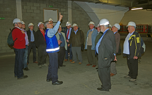 Mr. Vic McLaughlin of Network Rail pointing out an interesting feature of Central Station.