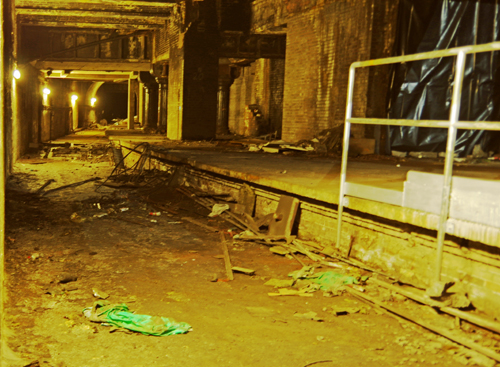 The old disused former Glasgow Central Railway Station underneath Central station.