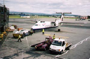 Aircraft at Glasgow Airport
