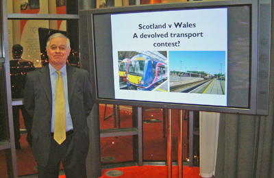 John Davies, an independent railway consultant, addressed the Scottish Region at its Annual Rail event on Rail Developments in Wales and Scotland.