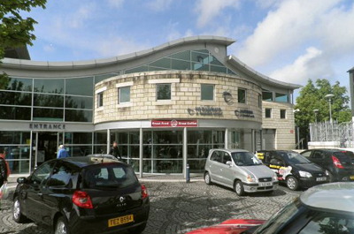 Bangor combined rail and bus station as stylishly rebuilt in 2001