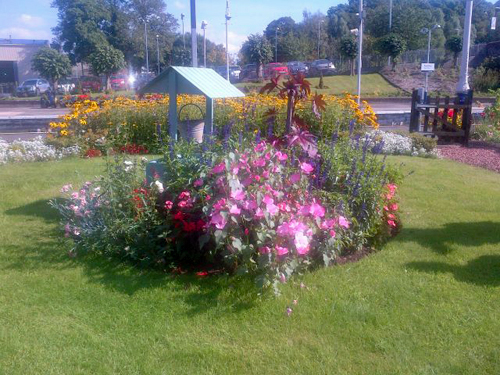 Station gardens at Dumfries, looked after by Louis and his volunteers.