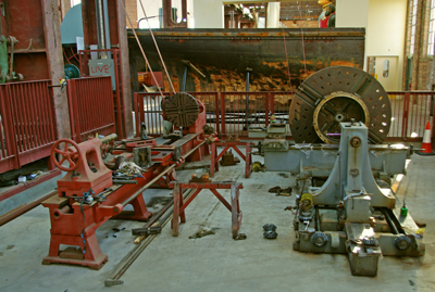 Some of the machinery on display at the Scottish Maritime Museum.