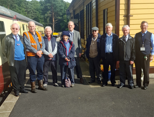CILT Scottish Region members at Milton of Crathes station.