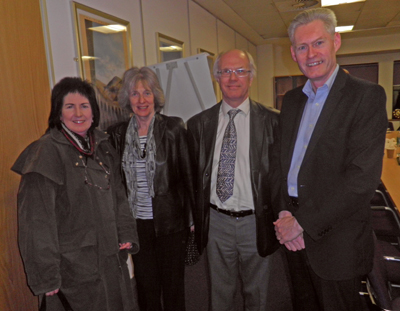 Neil Greig (far right) with visitors from Lanarkshire IAM at the Glasgow meeting.