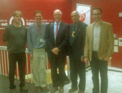 Left to right: Jonathan Cowie, Richard Llewellin, Keith Dickinson, Tariq Muneer and Jason Monios