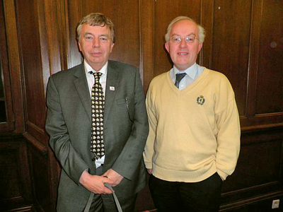 Phil Flanders, Director, Scotland & Northern Ireland (left) with Douglas Norris, CILT National Officer, Scotland (right).