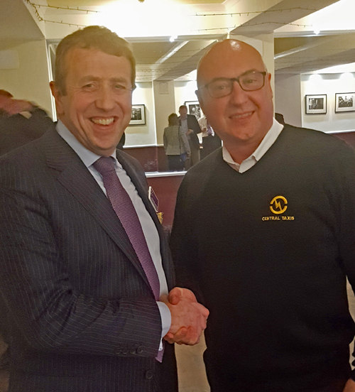 Richard Atkinson (left) with Scottish Region Chairman, Tony Kenmuir (right).