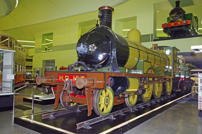 Highland Railway locomotive 103 on display inside the new museum, with other locomtives also on display