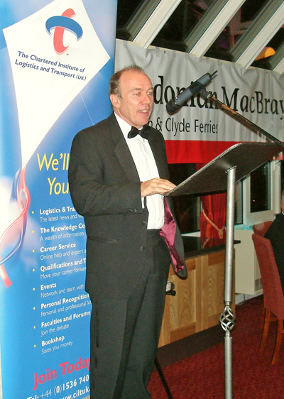 Brian Souter, Group Chief Executive of Stagecoach plc speaking at the Scottish Region's Annual Dinner.