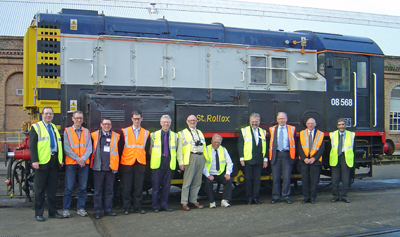 The St. Rollox shunter with Scottish Region members