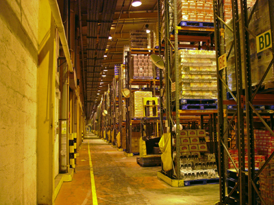 A view of the interior of the Distribution Centre.
