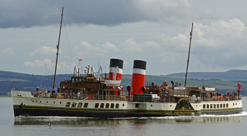The Waverley cruising on the Clyde.